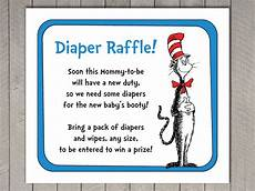 Raffle Wording Dr Seuss Baby Shower Diaper Raffle Invitation Insert And