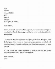 Information To Give Someone Writing A Recommendation Letter 7 Recommendation Letters For Employment Download Free