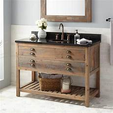 48 quot benoist reclaimed wood console vanity for undermount