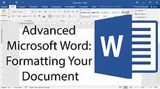 Letter Format Microsoft Word Advanced Microsoft Word Formatting Your Document Youtube
