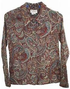Norm Thompson Size Chart Norm Thompson Womens Ladies Multi Color Floral Button Up