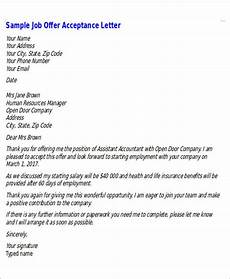 How To Accept Offer Of Employment Free 6 Sample Formal Job Offer Letter Templates In Ms