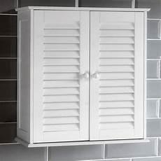 bathroom cabinet wall mounted shutter door white