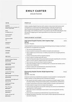 Resume English Template Resume Templates 2019 Pdf And Word Free Downloads