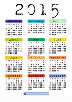 Writable Calendar Download Printable 2015 Calendar