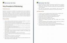 Vice President Of Manufacturing Job Description Executive Vice President Of Sales And Marketing Job