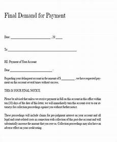 Letter For Final Payment Free 47 Demand Letter Templates In Pdf Ms Word
