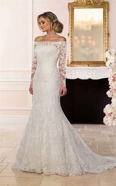 the shoulder lace wedding dress stella york wedding