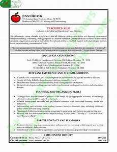 Teacher Assistant Resume Teacher Assistant Resume Example A Resumes For Teachers