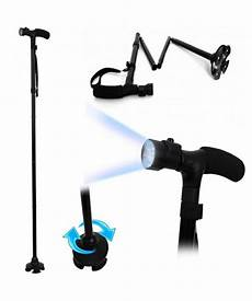 Light Walking Stick Folding Walking Stick With Torch Height Adjustable With