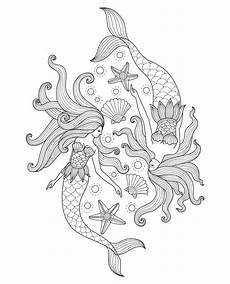 free printable mermaid coloring pages for hearty