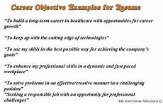 Goals And Objectives For Work Sample Career Objectives Examples For Resumes