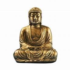mini resin gold silver buddha statue sculpture meditating