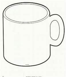 Coffee Mug Template Mug Outline Coffee Mug Clipart Chocolate Mug