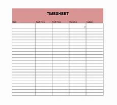 Microsoft Timesheet Templates 41 Free Timesheet Time Card Templates Free Template
