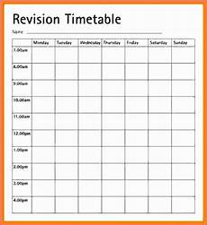 Blank Revision Timetable Template Best Templates Ideas For You We Give You Various