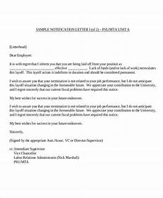 Employee Termination Letter Sample Free 8 Sample Employee Termination Letter Templates In Ms