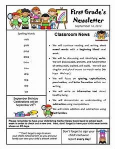 News Letter Templates For Teachers Free 10 Sample Kindergarten Newsletter Templates In Pdf