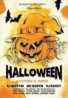 Free Halloween Flyer Template 20 Free Halloween Flyers Psd Templates Utemplates