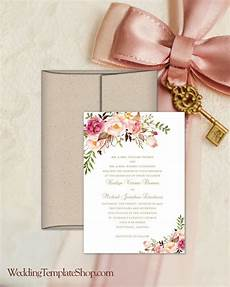 Free Diy Wedding Invitations Templates Printable Wedding Invitation Romantic Blossoms Make Your