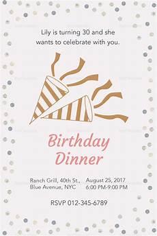 Sample Invitation For Dinner Birthday Dinner Invitation Design Template In Psd Word