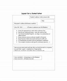 Letter Layout Formal Free 8 Sample Formal Letter Layout Templates In Ms Word Pdf