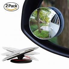 Blind Spot Lighting Ampper Blind Spot Mirror 2 Round Hd Glass Convex Rear