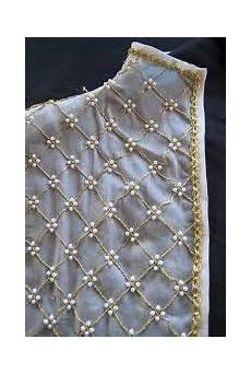 bead work 4 pearls with bead center pearl embroidery
