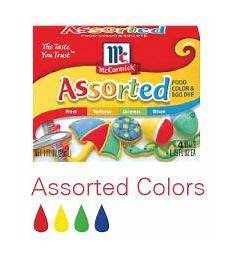Mccormick Assorted Food Coloring Chart Frosting And Cake Flavor Color Guide Mccormick Food