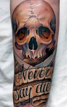 3 Skull Designs 80 3d Tattoos For Men Three Dimensional Illusion Ink