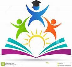 education logo stock vector illustration of child