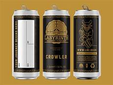 Crowler Label Design Labyrinth Brewing Company Crowler Label Design By Raboin