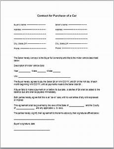 Contract For Selling A Car Car Lease Purchase Contract Car Lease Purchase Contract