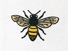 bee embroidery machine embroidery file design 4 x 4 inch
