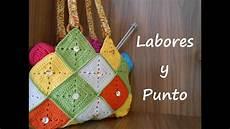 como hacer este bolso patchwork a ganchillo o crochet
