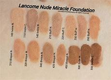 Lancome 24 Hour Foundation Color Chart Lancome Miracle Foundation Review Amp Swatches Of Shades