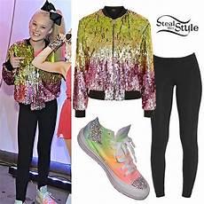 work clothes siwa jojo siwa sequin bomber rainbow sneakers jojo siwa