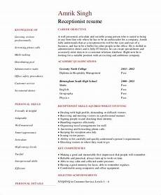 Receptionist Objective On Resume Sample Good Resume Objective 8 Examples In Pdf Word
