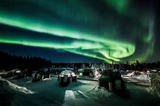 When Northern Lights Finland Video Strong Northern Lights Dance In Lapland Sky