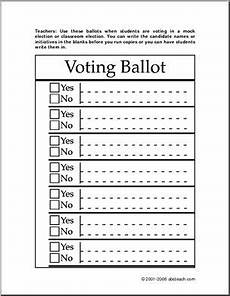 Voting Ballot Template For Word Election Ballot Template Free Download Printable