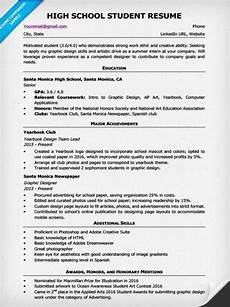 High School Student Resume Templates High School Resume Template Amp Writing Tips Resume Companion