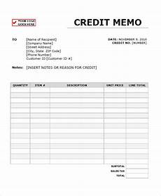Blank Memo Form 10 Credit Templates Free Sample Example Format Free