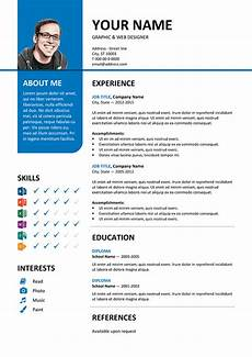 Blue Resume Paper Bayview Free Resume Template Microsoft Word Blue Layout