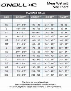 Oneill Size Chart O Neill Mens 2mm Hammer Springsuit Wetsuits