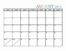 Calendar 2015 August 2015 Monthly Calendar Templates