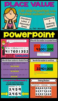 Powerpoint On Place Value Place Value Powerpoint For 4th Grade And Up Place