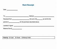 Rent Receipt Format Word 6 Free Rent Receipt Templates Excel Pdf Formats