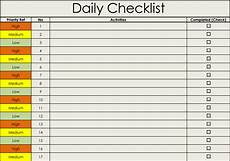 Excel Checklist Template 2013 Checklist Templates Free Printable Checklists For Word