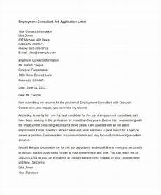 Application Letter Template Sample 10 Job Application Letter Templates For Employment Pdf