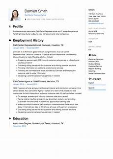 Resume For A Call Center Agent Call Center Representative Resume Amp Guide 12 Samples